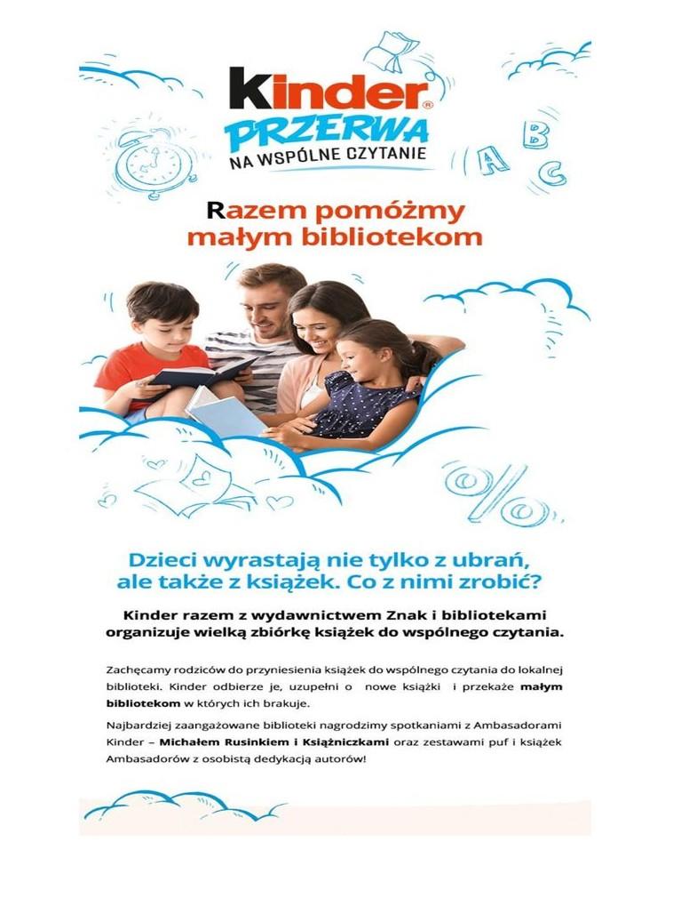 Plakat-Przerwa na czytanie z kinder