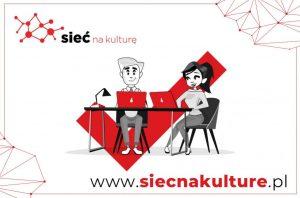 """plakat projektowy """"Sieć na kulturę"""""""